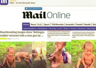 A screen-grab of the Daily Mail story before it was removed from the tabloid's website.