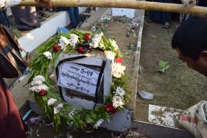 Lawyer Ko Ni was laid to rest in the Yayway Cemetery, Rangoon. (PHOTO: KIMBERLEY PHILLIPS / DVB)