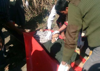 The body of Kyaw Zin Htun, a teacher at a middle school in Hpakant Township's Namtmahpyit village, was discovered shortly after he was last seen alive on Wednesday.