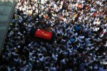Thousands of mourners turned out for the funeral of Ko Ni on 30 January 2017. The  highly respected lawyer and advisor to Suu Kyi was gunned down in broad daylight  on 29 January as he stood at a Rangoon airport taxi rank, cradling his grandchild in his arms. (Photo: DVB)