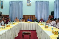 NMSP and KNU delegates meet for talks in Tenasserim [Tanintharyi] on 25 January 2017. (PHOTO: DVB)