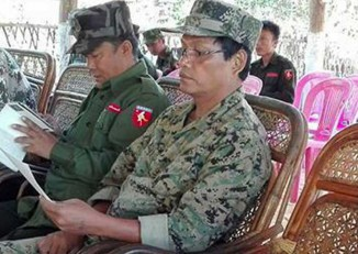 File photo of Min Htay (right). PHOTO: DVB