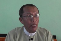 Myint Thein sat down for an interview recently with Myanmar Now at his office in Thandwe district. (Photo: Myanmar Now)