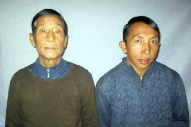 Nawng Latt, left, and Lanjaw Gam Seng have been held in military custody since 24 December, the Burmese Army revealed on Thursday. (Photo: Supplied)