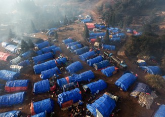 An aerial view of the Sha-it Yang camp for internally displaced persons (IDPs) in Kachin State. (Photo: Ryan Libre / Sakse)