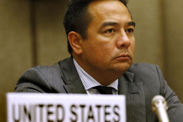 Keith Harper, US representative to the UN Human Rights Council, attends an hearing of Committee against Torture at the United Nations in Geneva on 13 November 2014. (Photo: Reuters)