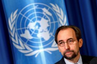 United Nations High Commissioner for Human Rights Zeid Ra'ad Al Hussein attends a media briefing at the UN European headquarters in Geneva, Switzerland, on 12 October 2016. (Photo: Reuters)