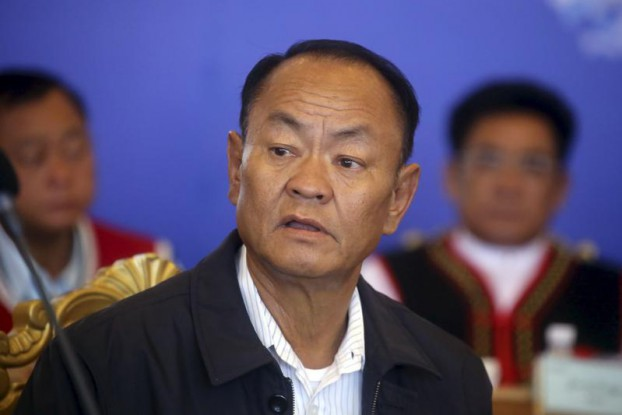 Bao Youxiang, leader of the United Wa State Army (UWSA), is seen during a meeting of leaders of Burma's ethnic armed groups at the UWSA headquarters in Panghsang, Shan State, on 6 May 2015. (Photo: Reuters)
