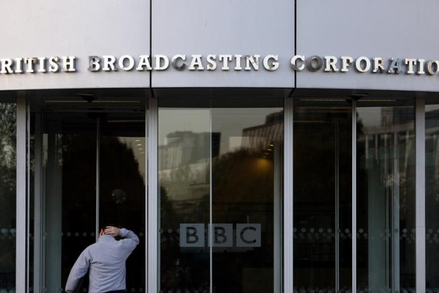 The entrance to the British Broadcasting Corporation (BBC) building is seen in White City in western London on 29 October 2008. (Photo: Reuters)