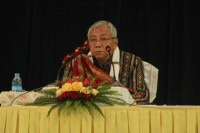 President Htin Kyaw has been visiting Chin State this week. (Photo: Aung Ko Latt / DVB)