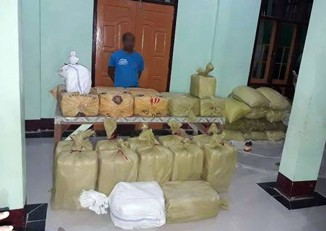 More than 4 million yaba pills were found hidden at the Shwe Baho Monstery in the Arakan State town of Maungdaw. (Photo: Supplied)