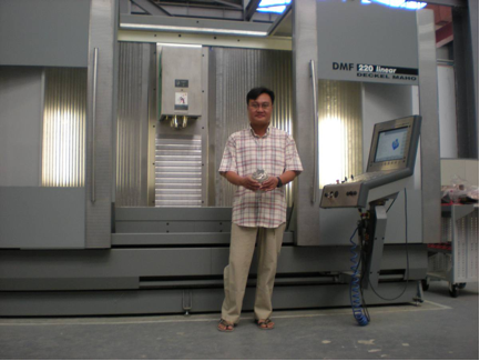 Sai Thein Win holding an impeller for a ballistic missile engine. He designed the program to manufacture it on CNC machines from Europe