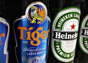 Myanmar Brewery corners a huge part of Burma's domestic beer market with manufacturing plants for Tiger Beer, Myanmar Beer, ABC Stout and Anchor Beer. (Reuters)