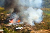 Fire broke out at Umphien refugee camp on Monday 3 February. No residents were injured.