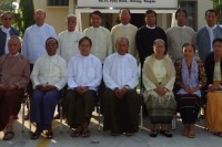 The Myanmar National Human Rights Commission (secretary Sitt Myaing, 2nd left, front row) says no evidence exists that a massacre took place in Maungdaw on 13 January. (PHOTO: MNHRC)