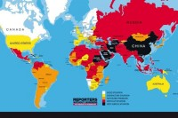 Map showing press freedom rankings as of February 2014 (IMAGE: Reporters Without Borders)
