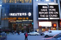 Reuters news agency office building in New York (PHOTO: wikicommons)