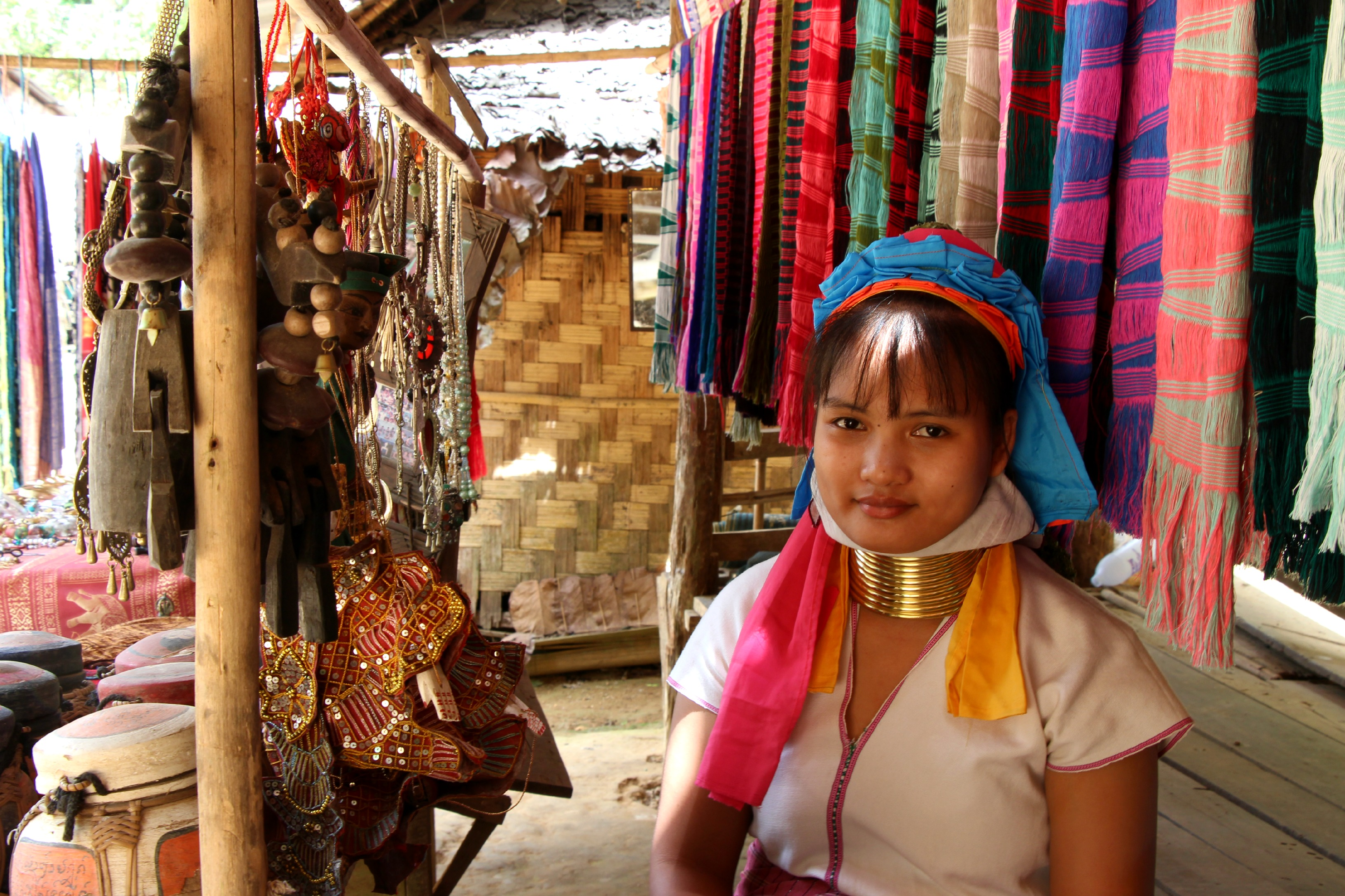 Mapaung is one of the two remaining long-necked women in Kayan Tharyar. (PHOTO: Melanie Keyte).