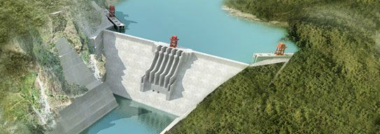 An impression of what the Mong Ton dam will look like once completed. (PHOTO: Mong Ton hydropower project).