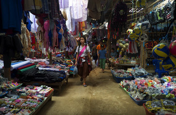 A girl shops at a market in Mae La refugee camp, currently home to some 43,000 displaced people. (PHOTO: Dene-Hern Chen)