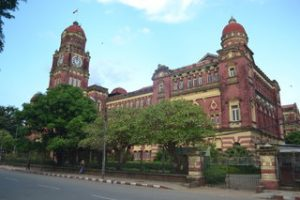 Rangoon's former High Court, built 1905-11 (PHOTO: Colin Hinshelwood)