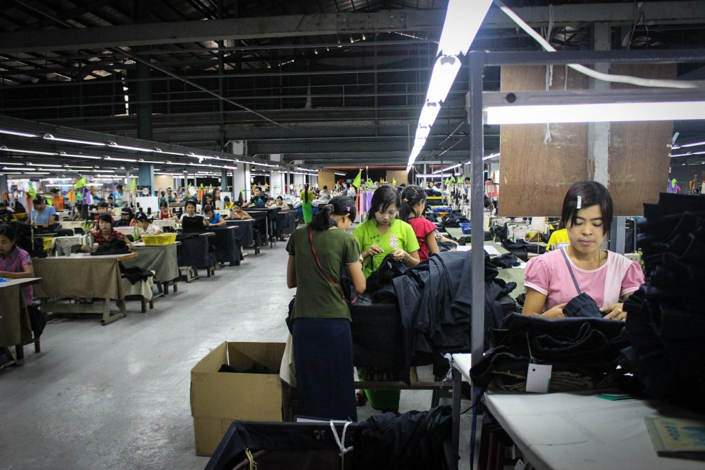In Burma garment workers often start work as young as 14. (Photo: Libby Hogan / DVB)